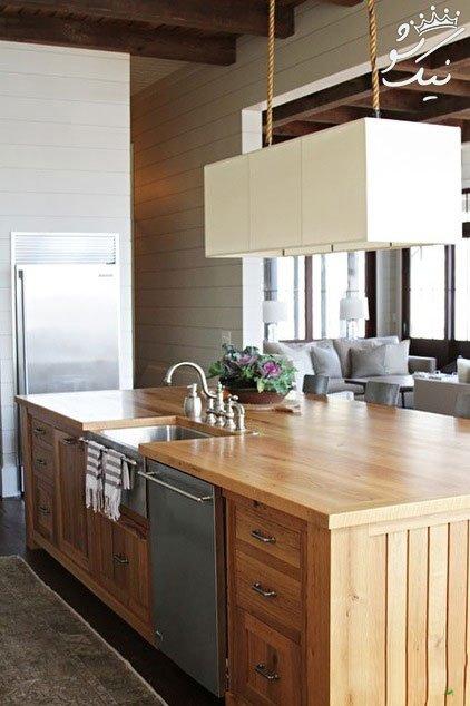 جزیره در آشپزخانه مد جدید و شیک دکوراسیون منازل