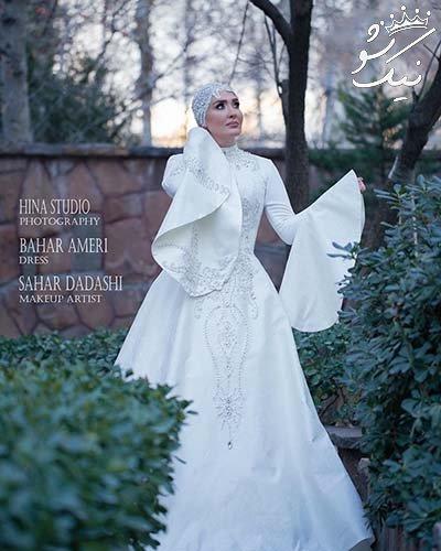 بازیگر زن مشهور مدل عروس شد +عکس