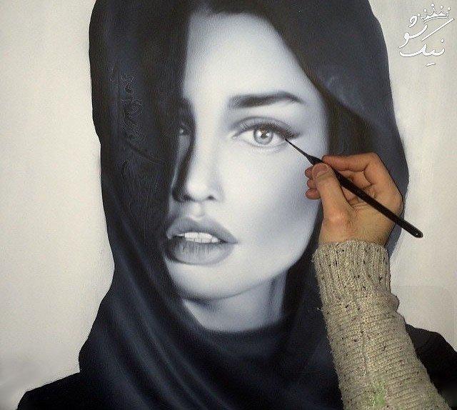 نقاشی های زیبا از چهره بازیگران