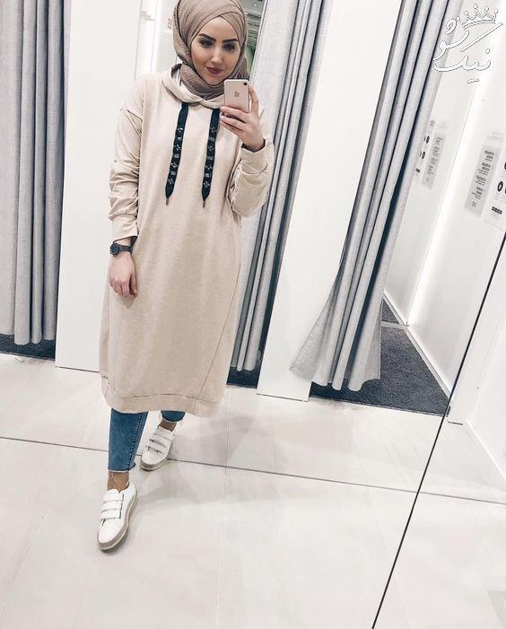 تیپ و استایل به سبک دختران با حجاب خارجی