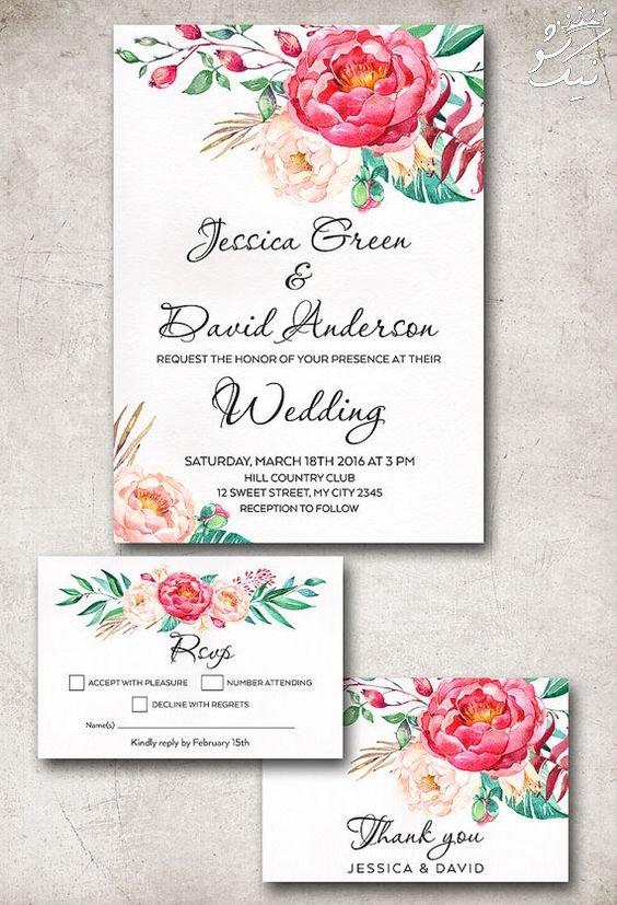 جذاب ترین مدل های کارت عروسی