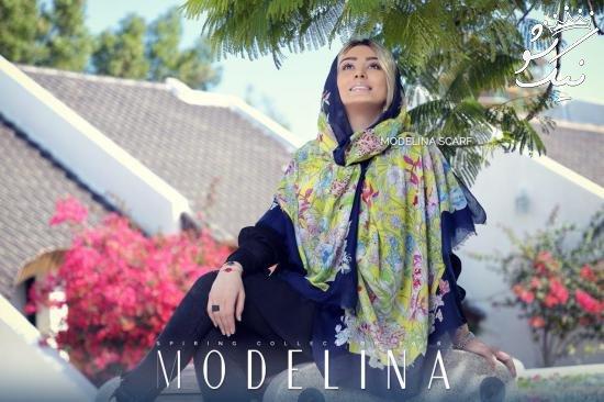 سحر قریشی و مدل های شال و روسری برند مدلینا