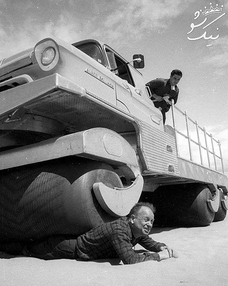 این کامیون به راحتی از روی شما رد می شود!