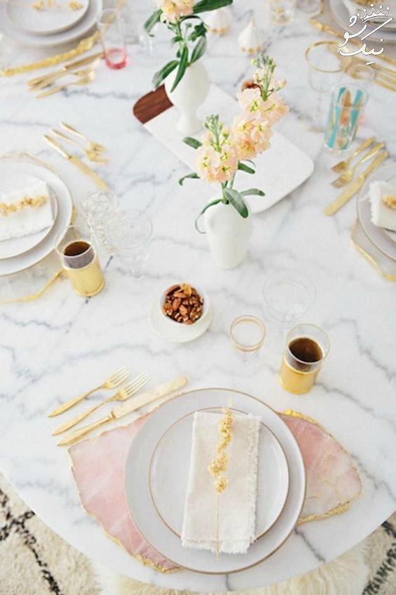 زیباترین تزیین های میز عروسی