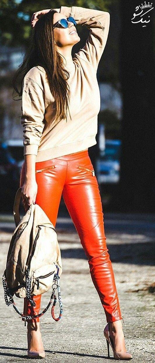 مدل های لگ براق ،لگ چرم براق زنانه شیک و جذاب