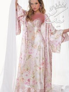 لباس خواب زنانه ,لباس خواب عروس ساتن واقعا شیک