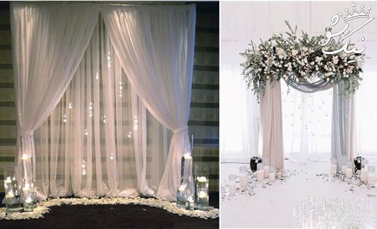 ایده های خلاقانه تزیین جایگاه عروس و داماد