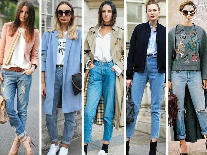 معرفی انواع شلوار جین زنانه از مام استایل تا اسکینی