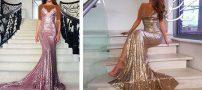 مدل لباس مجلسی شیک دخترانه کوتاه و بلند ۲۰۱۸