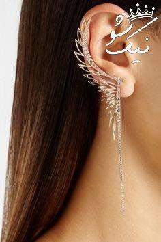 شیک ترین مدل های گوشواره بخیه ای طلا جدید