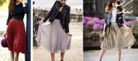 مدل های دامن پلیسه شیک برای خانم های ایرانی