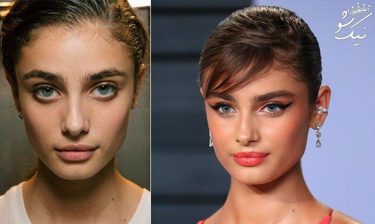 مدل هایی که چهره شان را بی آرایش نشان می دهند