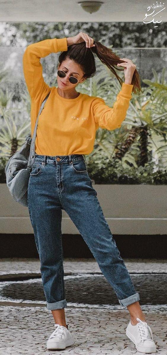 مدل های شلوار بوی فرند استایل زنانه 2018