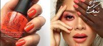 آرایش ناخن رنگ مرجانی مد سال ۲۰۱۹