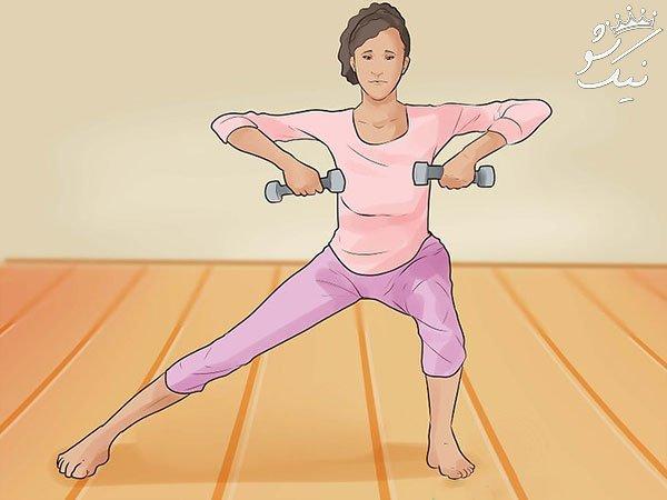 ورزش برای پهن شدن لگن