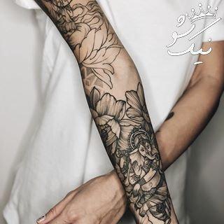 مدل تاتو روی بدن دخترانه | خالکوبی دست ، پا ، بازو و سینه