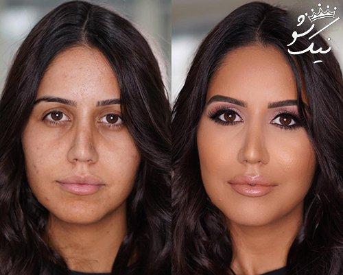 کمپین قدرت آرایش چهره دختران در اینستاگرام +عکس