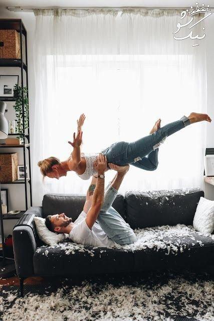 عکس عشق بازی دختر و پسر روی تخت خواب