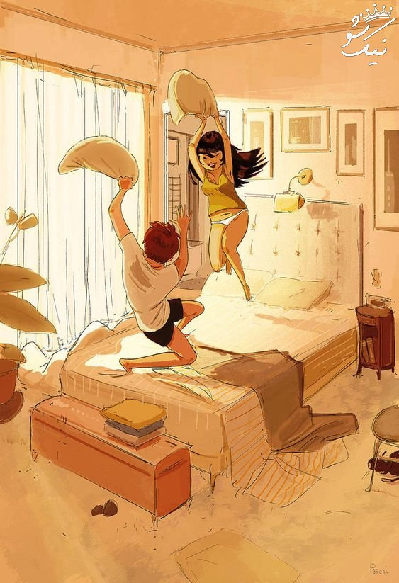 عکس کارتونی دخترانه   عکس عاشقانه کارتونی