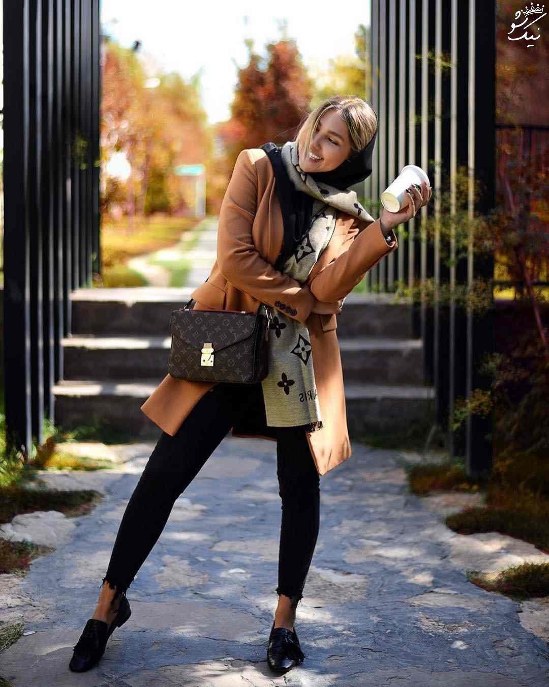 تیپ دخترانه به سبک مارال شاکر حسینی | اینستاگرام