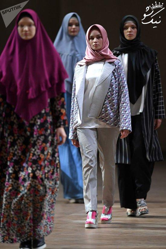مدل های باحجاب در نمایشگاه مد روسیه