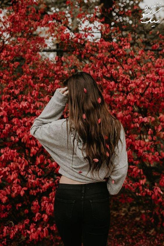 عکس دختر در طبیعت از پشت