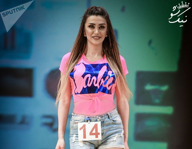 زیباترین دختر آذربایجان در مسابقات دختر و پسر شایسته 2019
