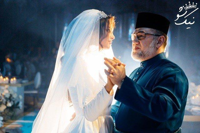 ازدواج سلطان 50 ساله مالزی و ریحانا اوکانا پترو مدل جوان روسیه