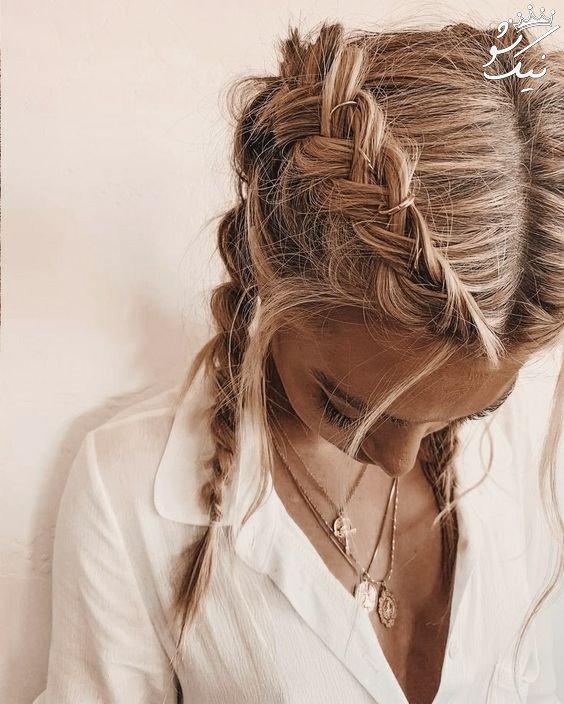 بافت موی دخترانه | تیغ ماهی ، آفریقایی ، فرانسوی