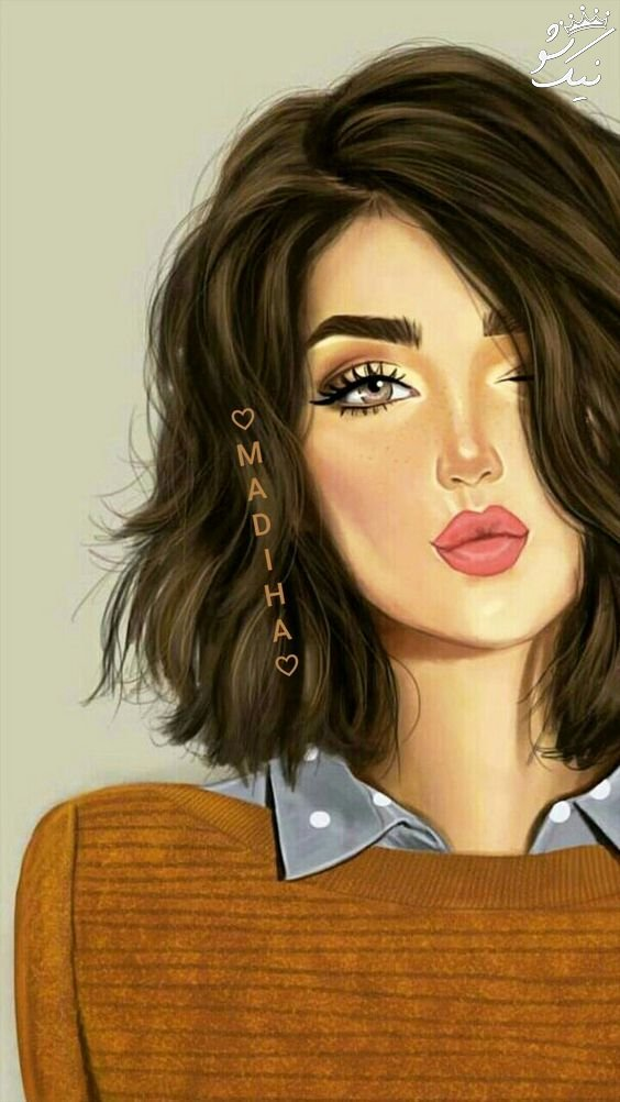 عکس کارتونی دخترانه بامزه | فانتزی عاشقانه