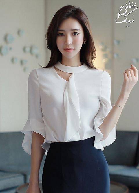 مدل شومیز دخترانه کره ای | ست شومیز و دامن 2019