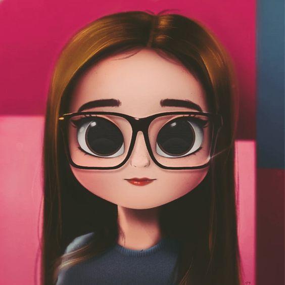 عکس دخترانه کارتونی برای پروفایل | بامزه عروسکی