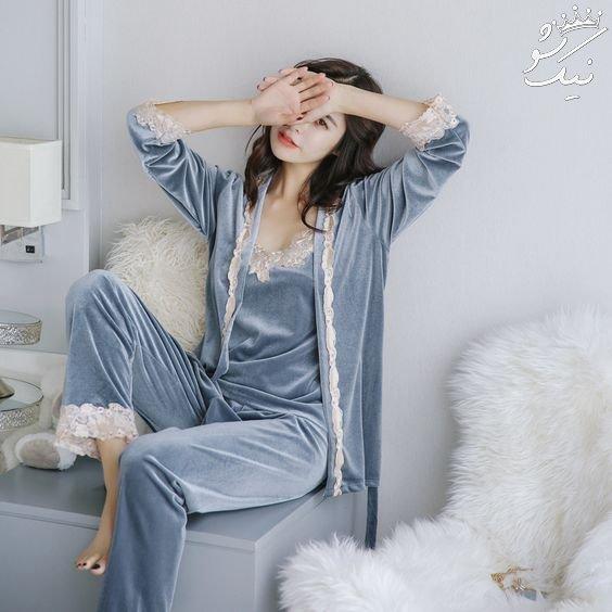 لباس خواب زنانه ساتن | مدل های روز خارجی 2019