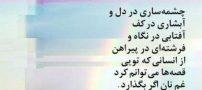 شعر چشمه ساری در دل آبشاری در کف از احمد شاملو