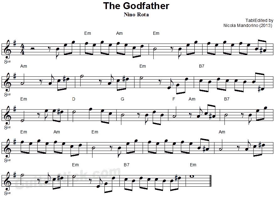 نت گیتار پدر خوانده God father
