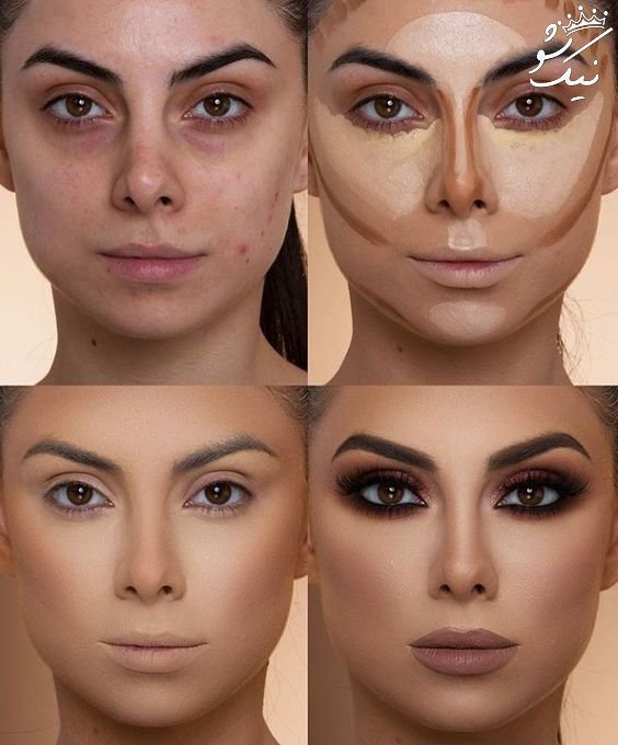 آموزش آرایش و کانتورینگ صورت مرحله به مرحله
