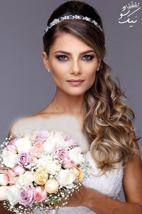 مدل مو عروس با تاج 2019 | ملکه های ، گرد ، فرحی ، تاج و تور