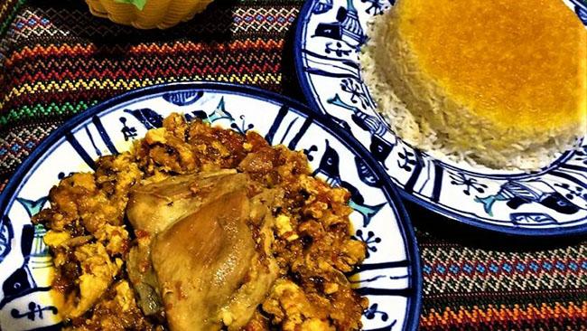 طرز تهیه چغرتمه گیلانی با مرغ   غذای خوشمزه محلی