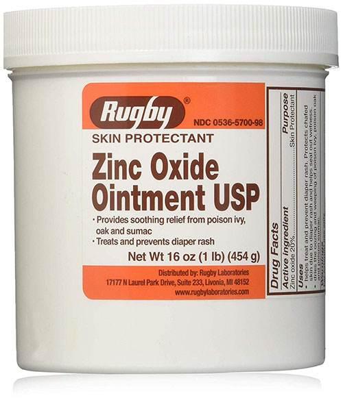 پماد زینک اکساید zinc oxide چه مدت روی پوست بماند