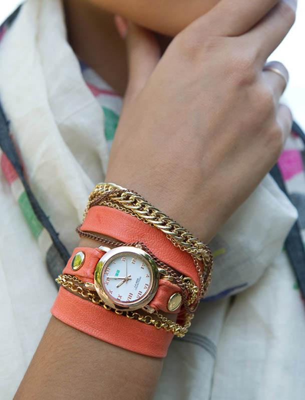 مدل های ساعت زنانه بند چرمی برند لامر