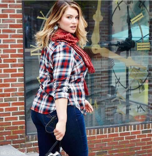 تارا لین دختر مدل که اندام بزرگش او را مشهور کرد