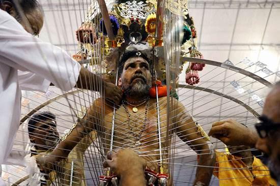 هندی ها در جشنواره ترسناک تایپوسام در مالزی
