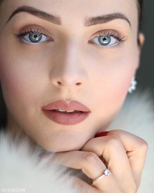 مدل آرایش صورت ملایم دخترانه مناسب برای بیرون