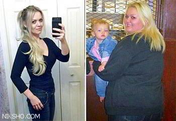 زن چاق همسر و فرزندش را ترک کرد و مانکن به خانه برگشت