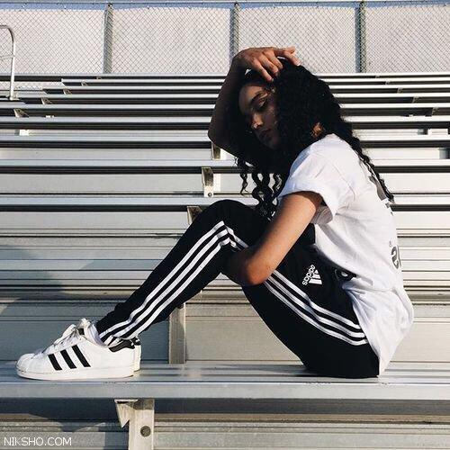 مدل شلوار اسپرت زنانه و لگ از برند adidas