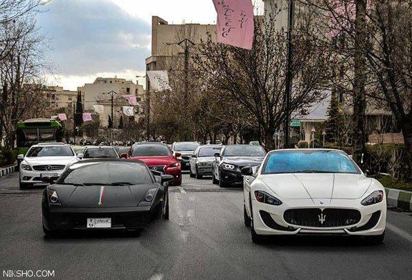 عبور همزمان ماشین های لوکس میلیاردی در جردن