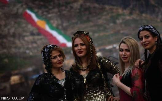 دختران زیبای کرد در جشن نوروز کردستان کشور عراق
