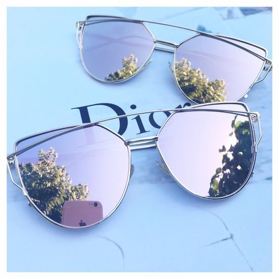 مدل های عینک آفتابی با طرح شیشه رز گلد