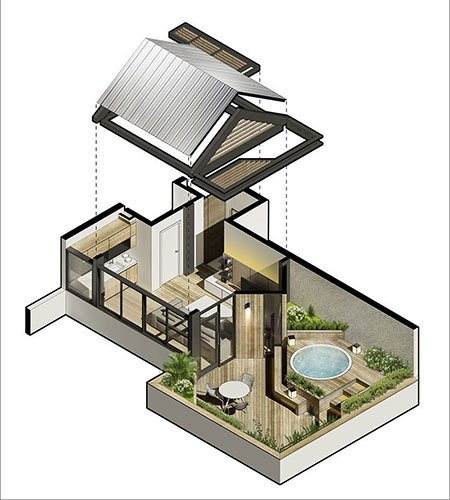 ایده های ناب طراحی پشت بام و تراس مدرن و لاکچری