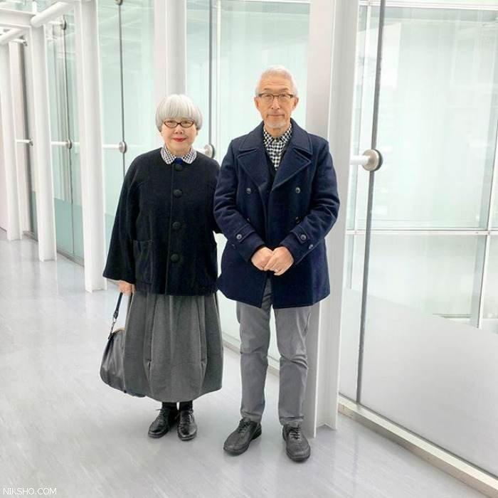 آقا و خانمی که 4 دهه است لباس ست می پوشند